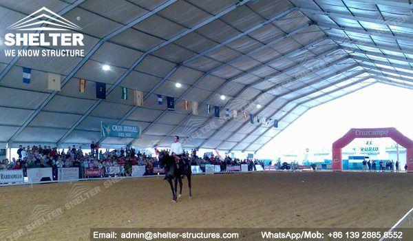 59 SHELTER Polygonal Tent - Indoor Horse Arena - Covered Riding Arena for Sale - Built & 59 SHELTER Polygonal Tent - Indoor Horse Arena - Covered Riding ...