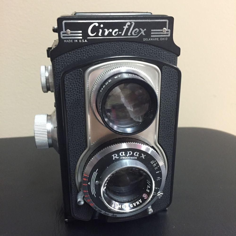 Vtg Ciro Flex Camera with Rapax Wollensak 85mm F 3 5 Lens
