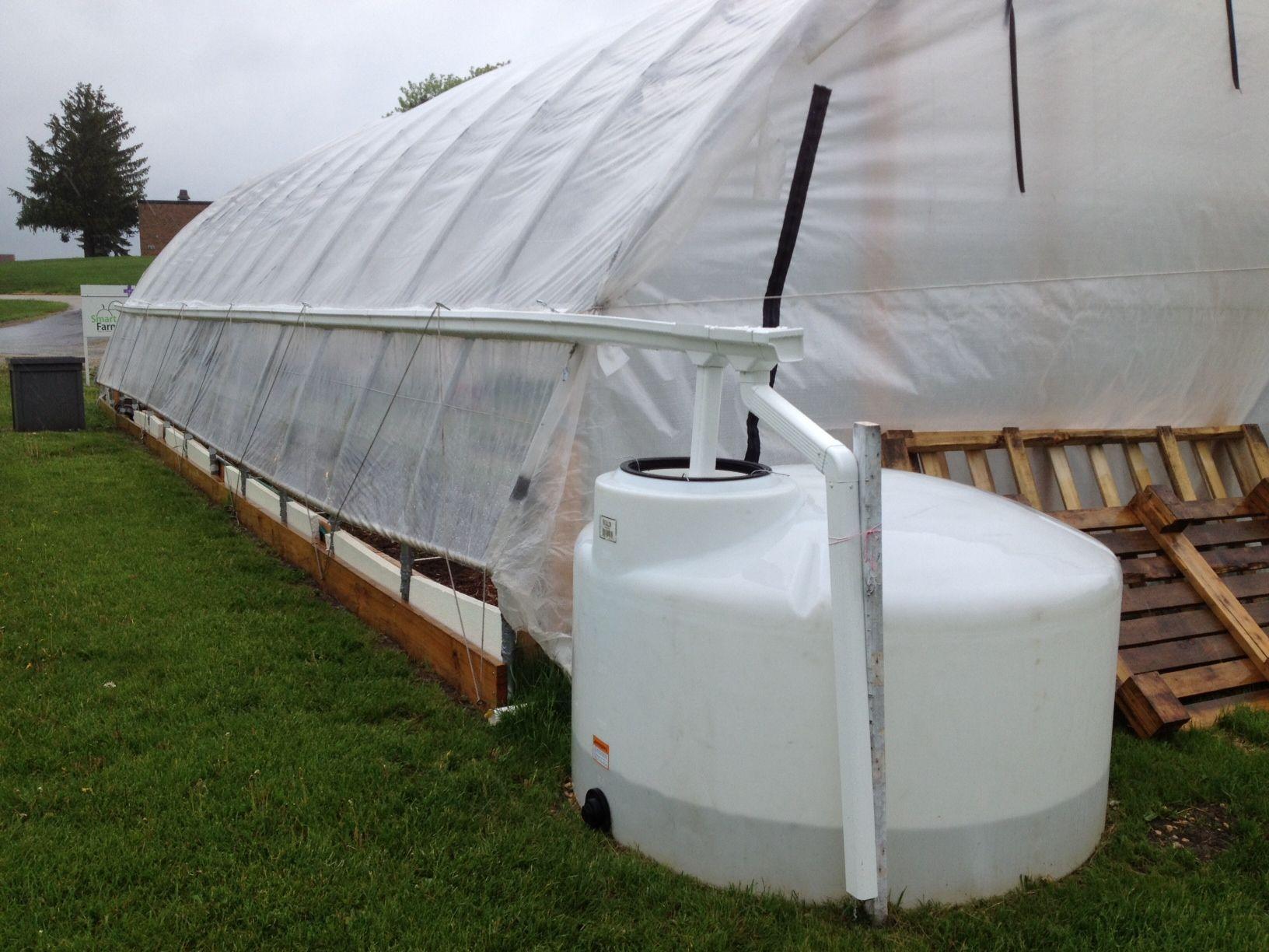 hoophouse rainwater catchment - 8x10 Hoop House Plans