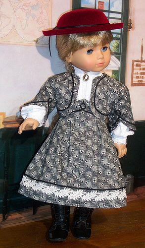 *1860 grey 1 #historicaldollclothes