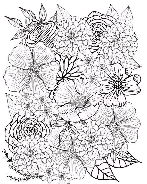 Flor Para Colorear Flores Para Colorear Pagina Pagina Para