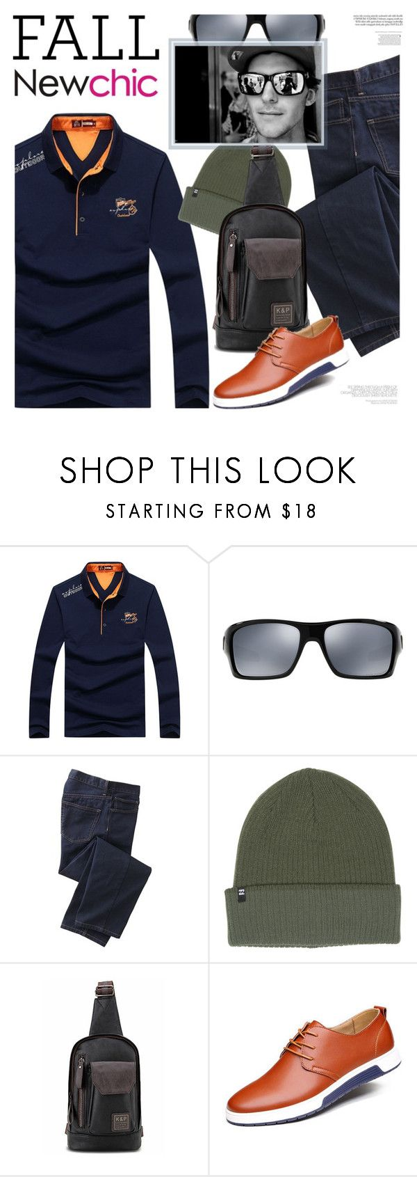 """""""NewChic Style 2: Fall for him"""" by bugatti-veyron ❤ liked on Polyvore featuring Oakley, TravelSmith and Billabong"""