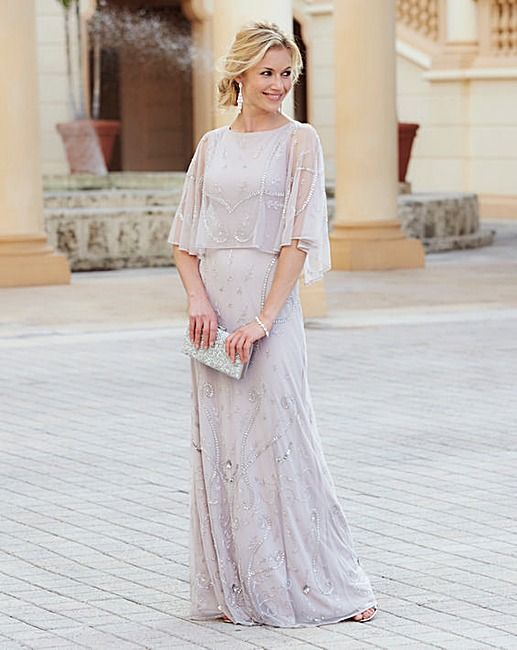 Fully beaded maxi dress