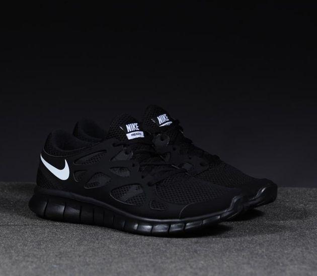 Nike Free Run 2 Black   White Black  723b7b2a6