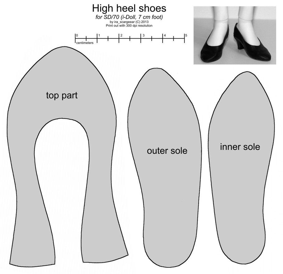 High Heel Shoe Template   This Is A Basic Pattern You May Modify It If You Wish Please