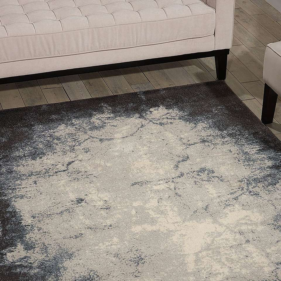 Ivory and Grey Maxell Rug (With images) | Rugs, Blue grey ...