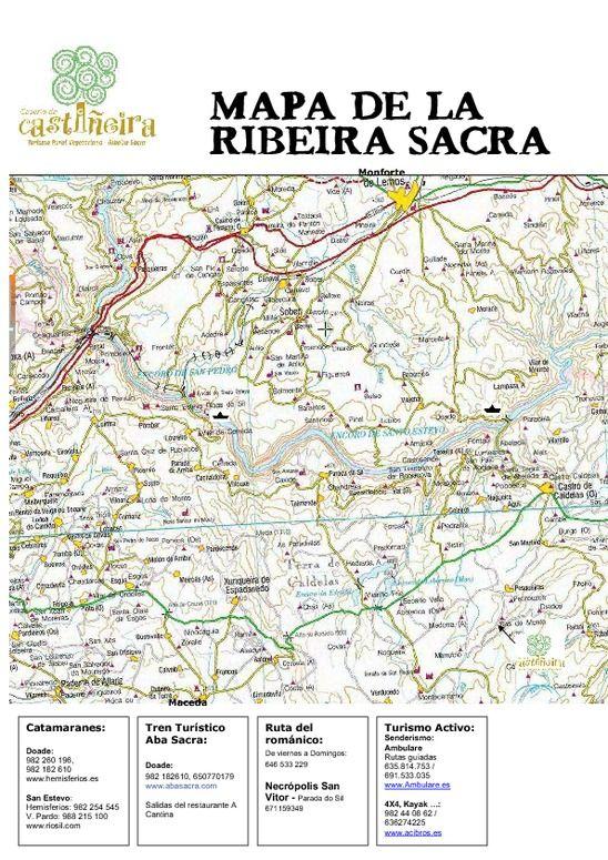 Mapa De Carreteras De La Ribeira Sacra Realizado Por Http Www