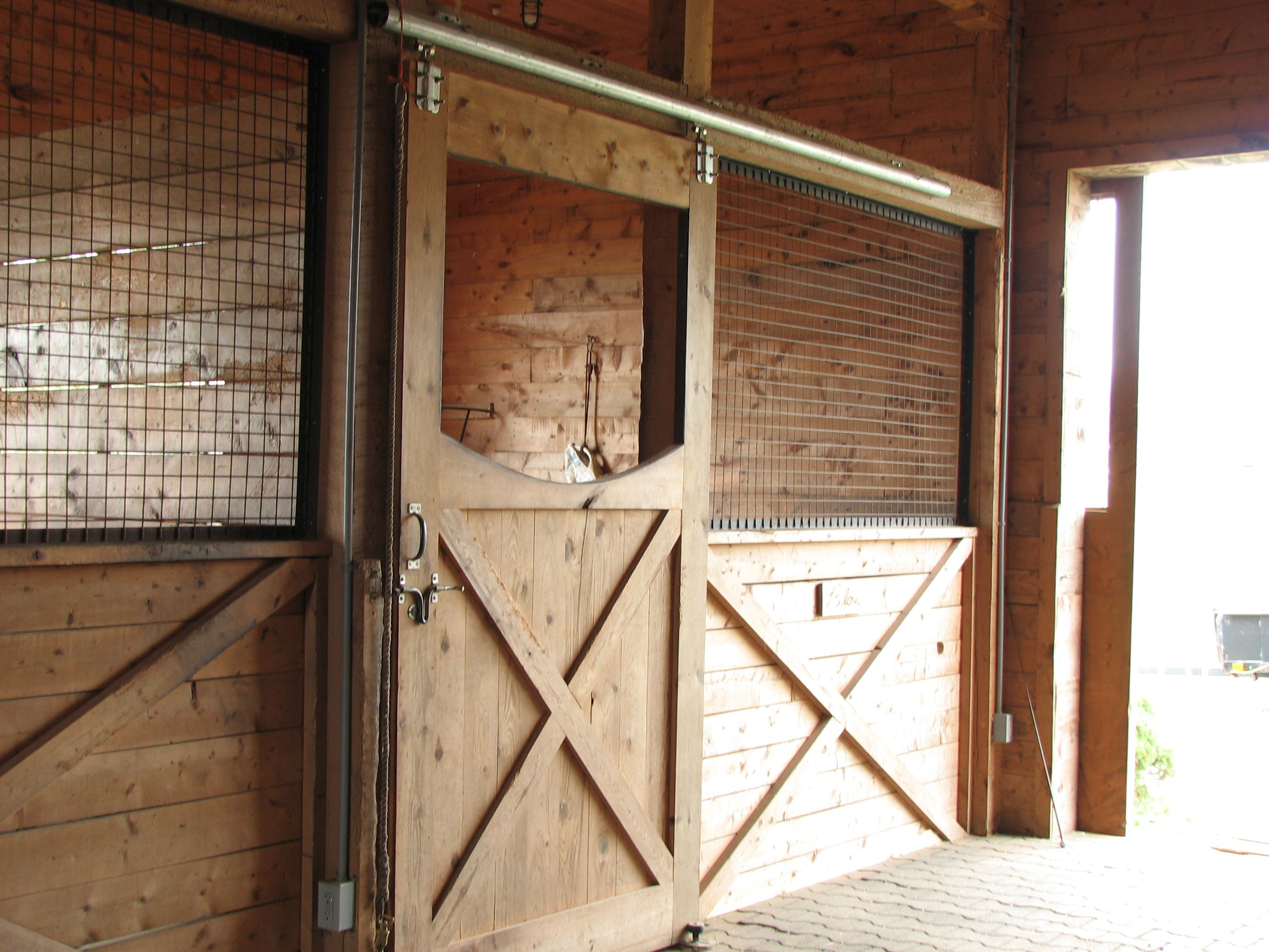 Horse Barn Plans · These Are The Stall Doors ...