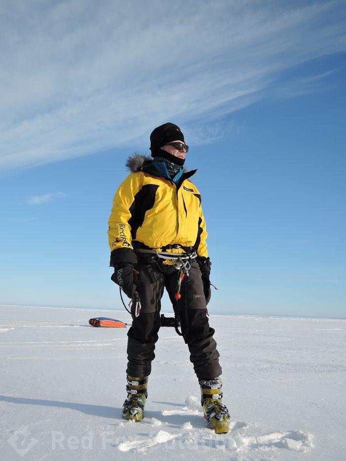 Russian kiter Dmitry Botov on the White Lake
