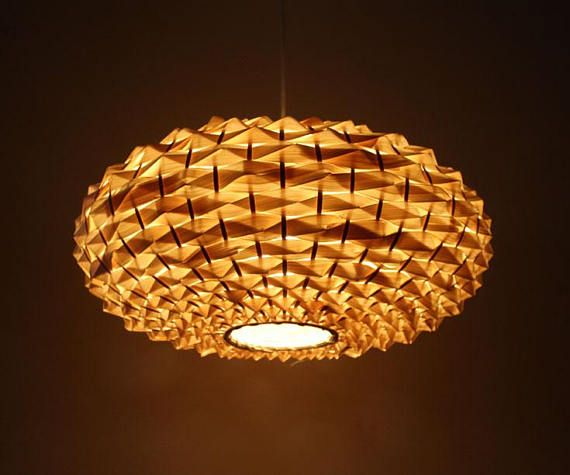 Hand Woven Oval Shape Bamboo Light Fixtures Pendant Lights