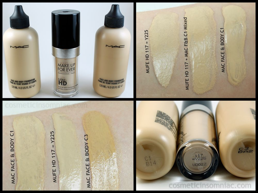 mac face and body vs makeup forever hd