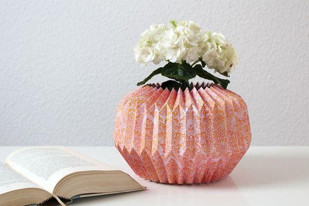 Jarrón de papel origami - decoración del hogar - hecho a mano en DaWanda.es