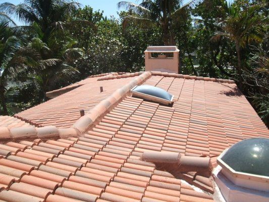 This Is A Concrete Tile Roof In Golden Beach Fl The
