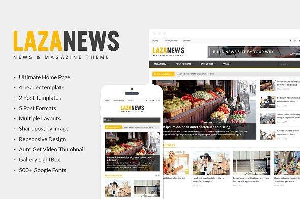 100+ Premium Amazing Newspaper WordPress Themes   3300+ Best ...