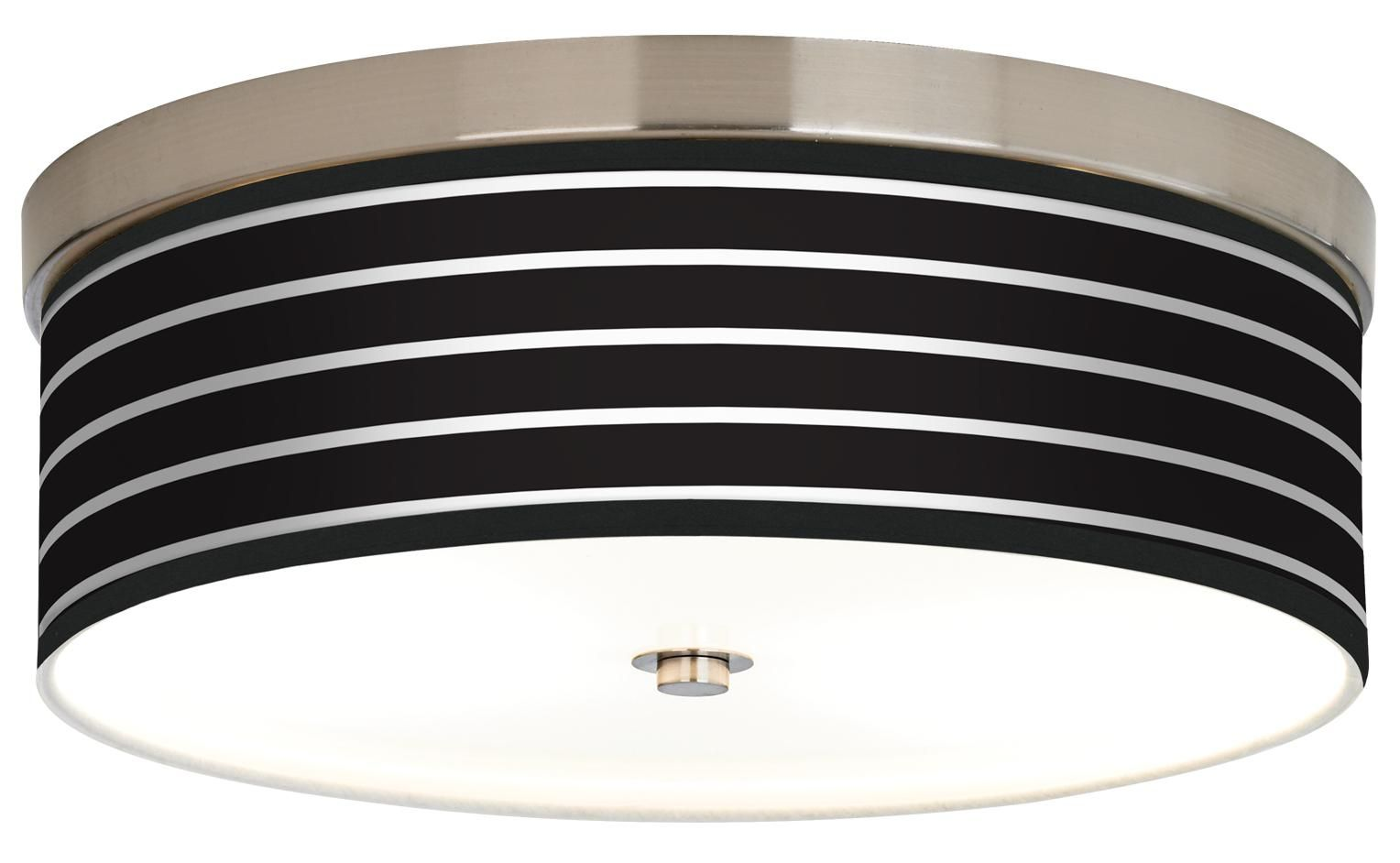 Bold Black Stripe Giclee Energy Efficient Ceiling Light Style - Energy efficient kitchen ceiling lighting