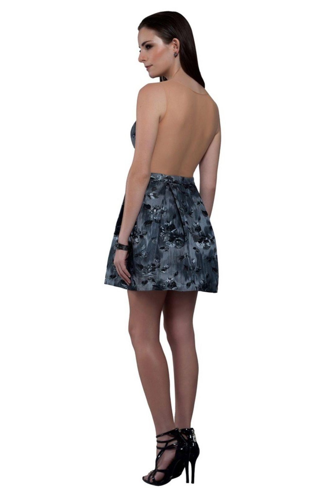 07050f67a Vestido Izad em tafeta brocado com busto bordado Preto | Products ...