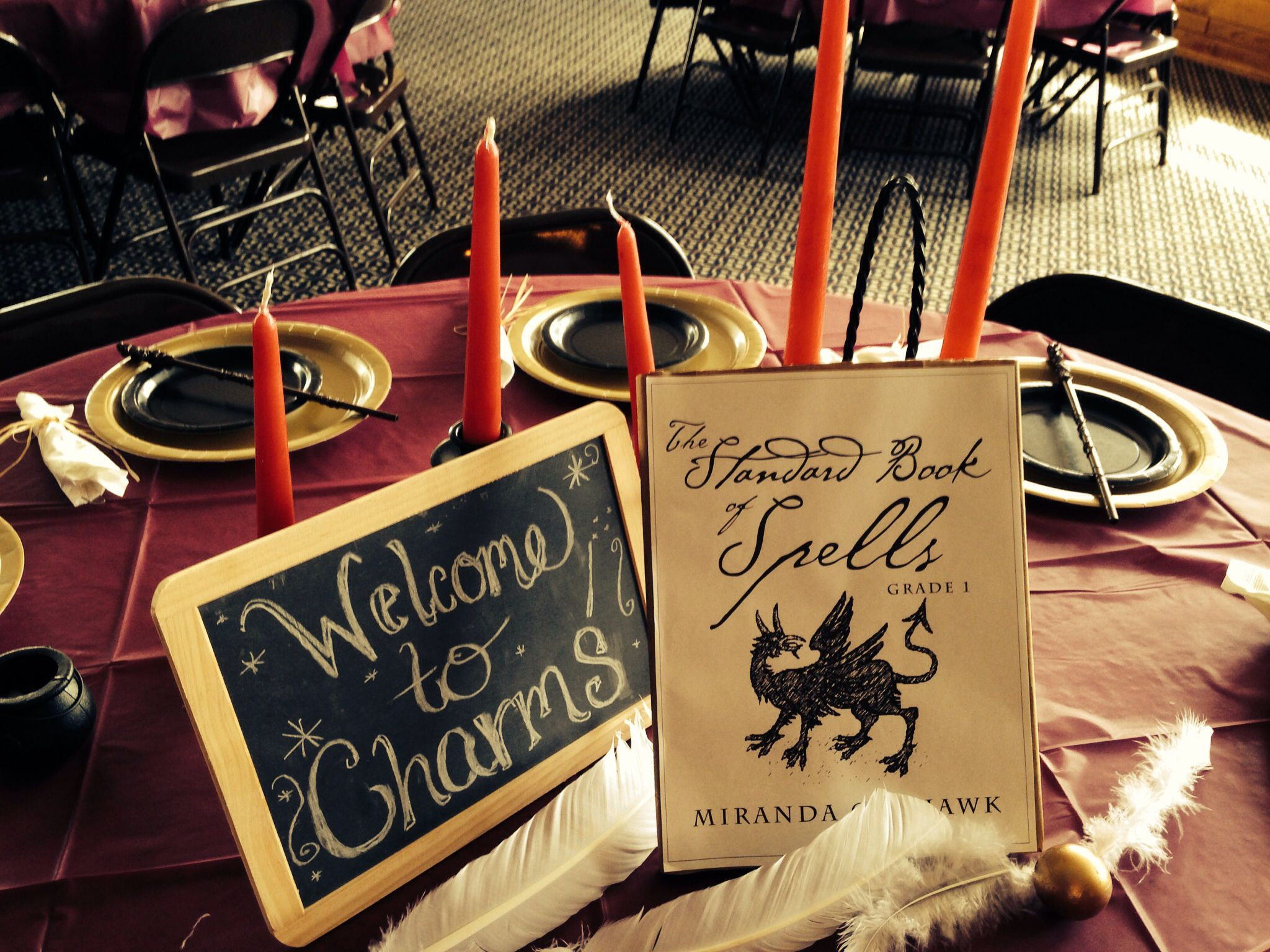 Harry Potter Bridal Shower Each Table S Centerpiece Was A Cl At Hogwarts