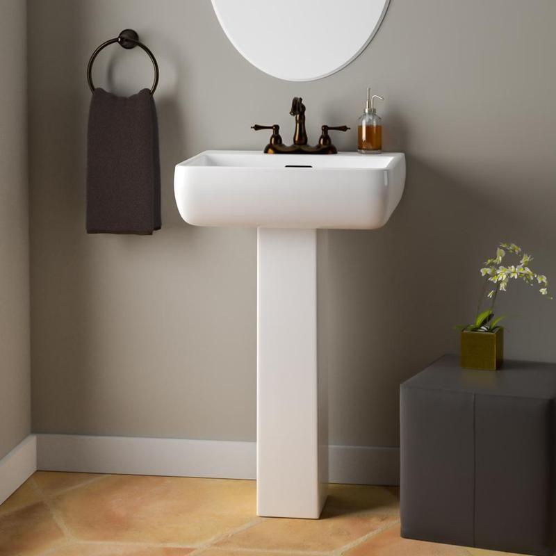 Hudson 100 Vitreous China Pedestal Sink