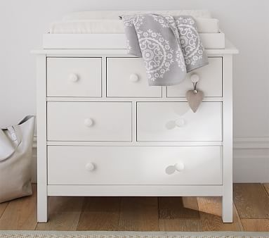 Kendall Nursery Dresser W O Topper Simply White Amy And