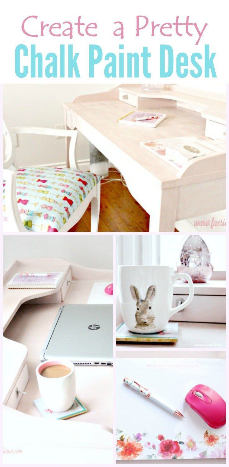 diy furniture refinishing projects. DIY Girlish Desk Makeover - Using Blush Chalk Paint And Accessories. Create A Pretty Office With An Easy Furniture Refinishing Project Diy Projects