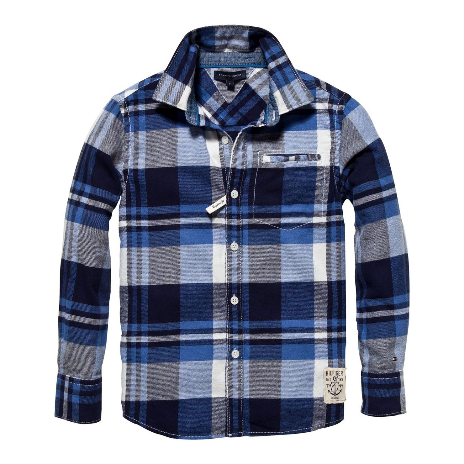 Tommy Hilfiger Fall River Check Shirt - Black Iris   Children s ... e6cad3dc35