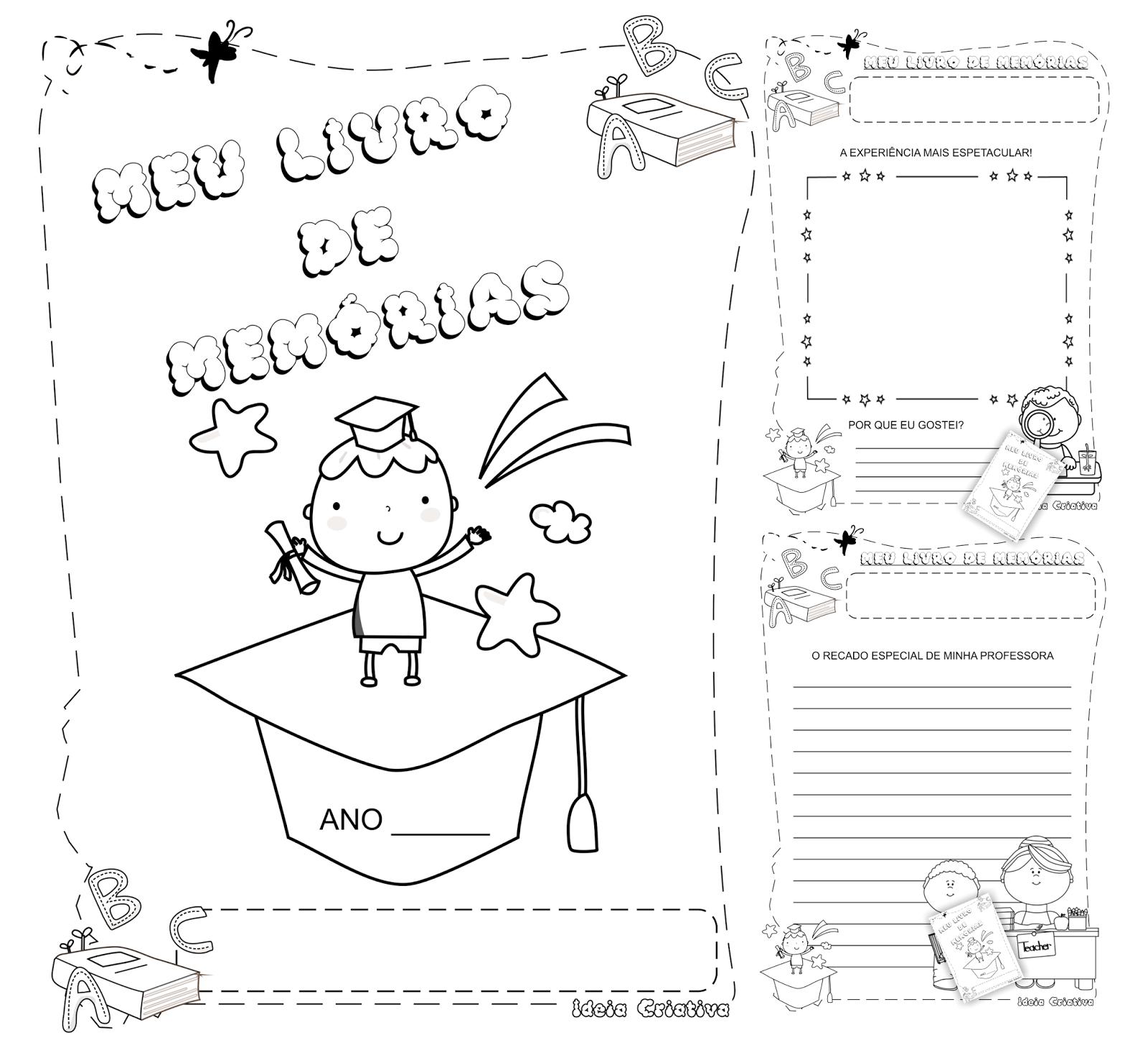 Top Loja Ideia Criativa: Caderno de Atividades Meu Livro de Memórias  YV85