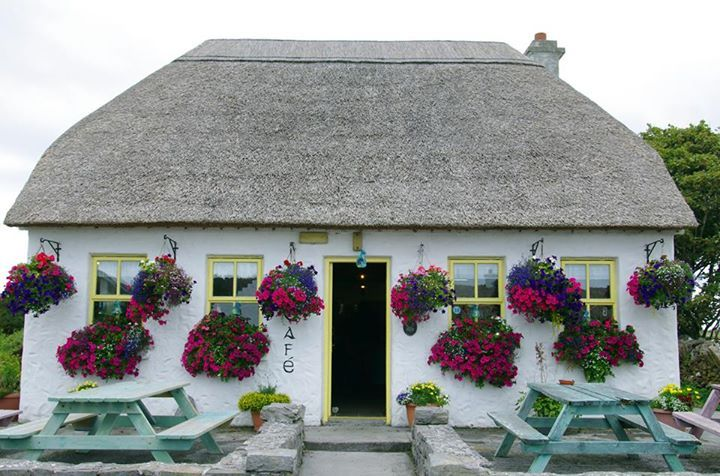 Possibly Ireland's cutest café? See it on Inis Mór, the largest of the Aran Islands, part of Ireland's Wild Atlantic Way: http://bit.ly/TheWildAtlanticWay