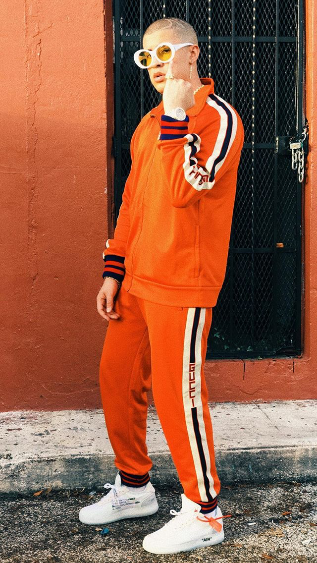 Badbunny Style Supreme Gucci Gucciboy Instagram Bunny Outfit Bunny Fashion Mens Outfits
