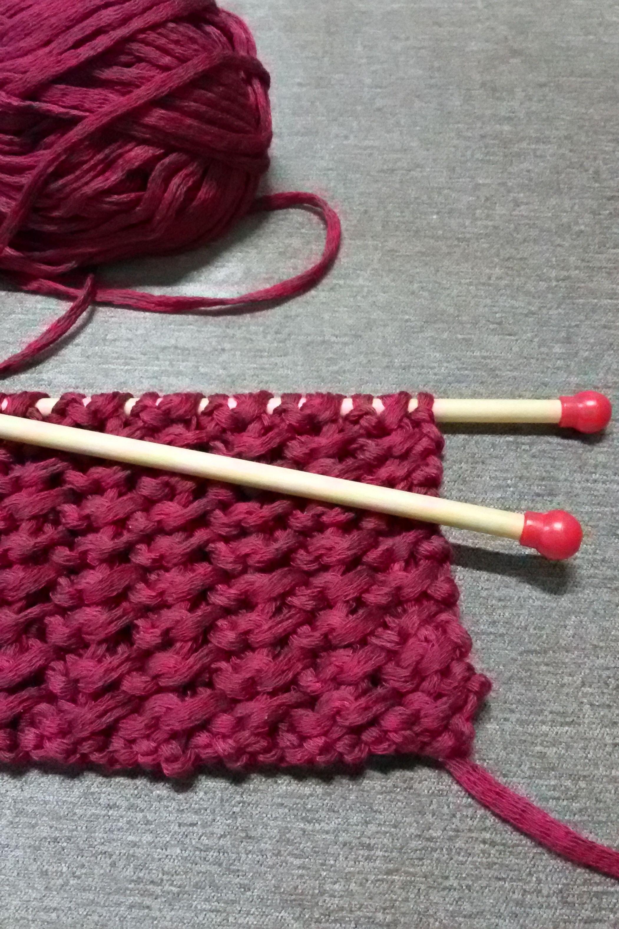 Trabalho em andamento: xale de tricô
