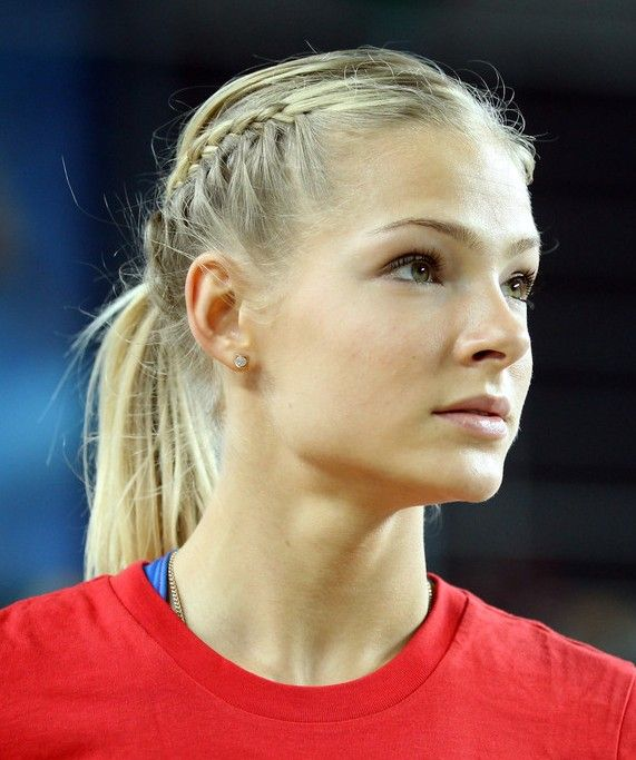 Hairstyle With Two French Braids A Ponytail Braid Hairstyle For Kids Hairstyles Weekly Sports Hairstyles Sporty Hairstyles Volleyball Hairstyles