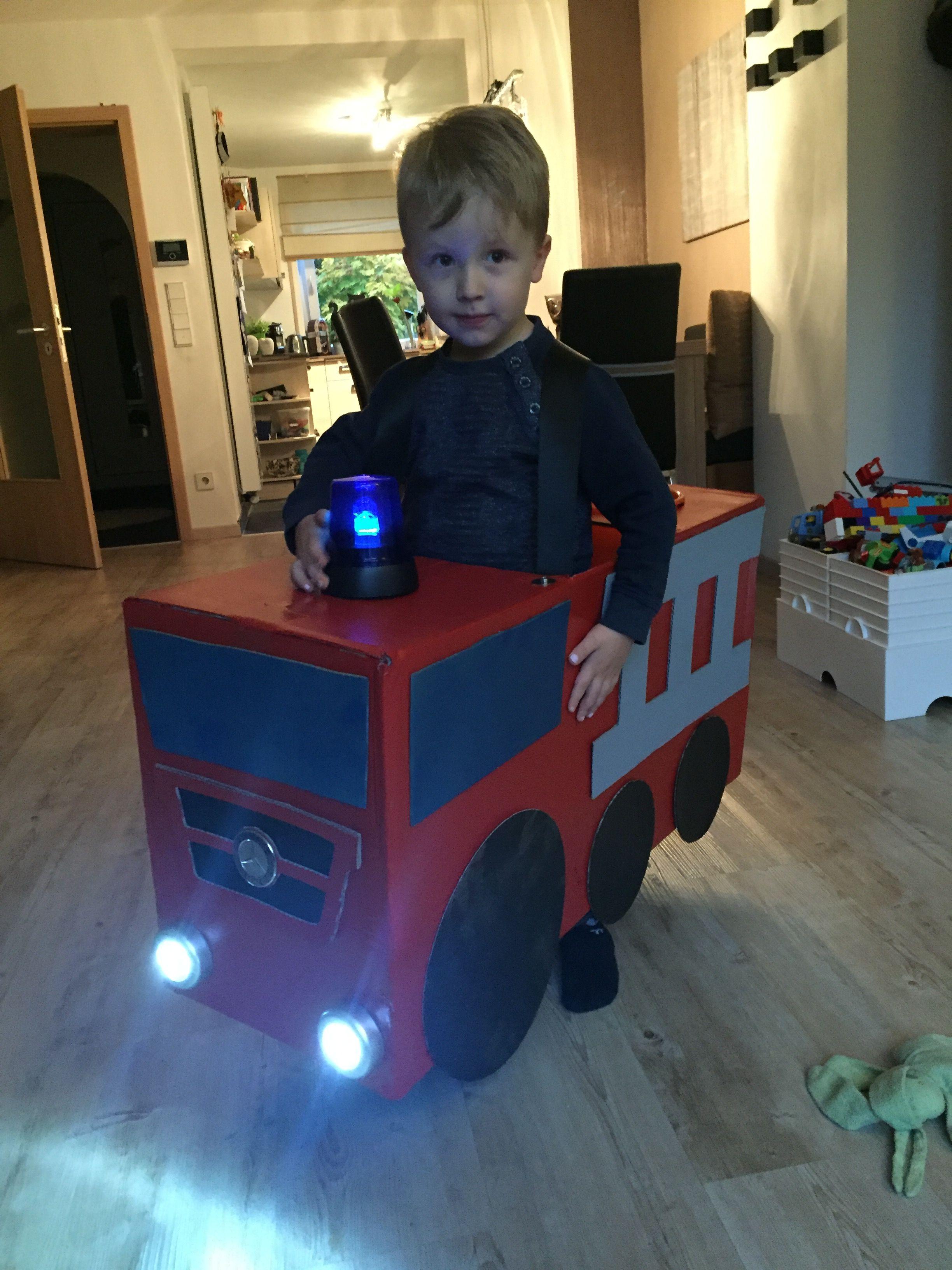 Verkleidung Feuerwehrauto Fasching Feuerwehrauto Diy