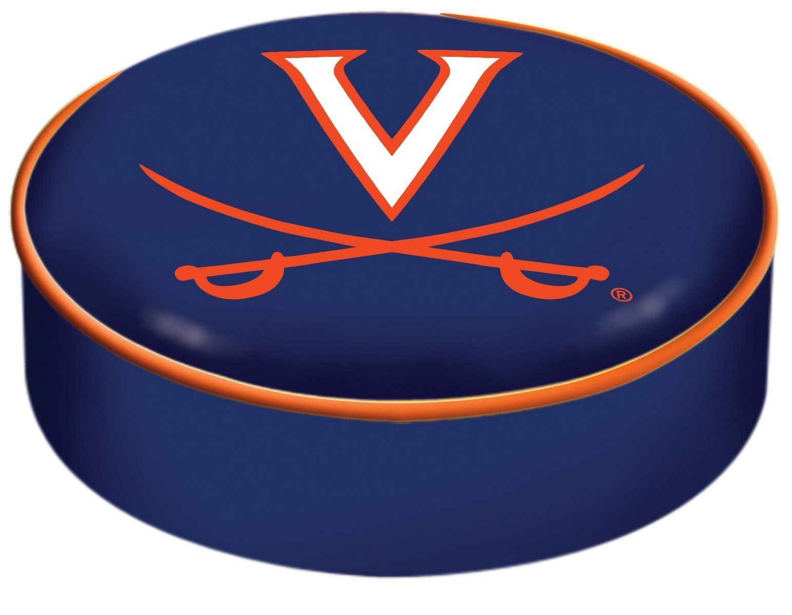 Astounding Virginia Cavaliers Hbs Navy Vinyl Elastic Slip Over Bar Andrewgaddart Wooden Chair Designs For Living Room Andrewgaddartcom