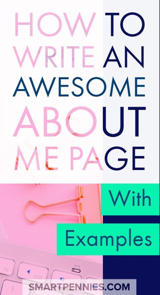 How to Create the Perfect about me page including Examples - Improve Your Money Habits to stop struggling with money