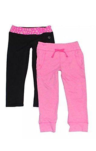 7ec8dd3d5cf27 Vigoss Girls 2 Piece Yoga and Pant Set (10, Pink/Black) | Best ...