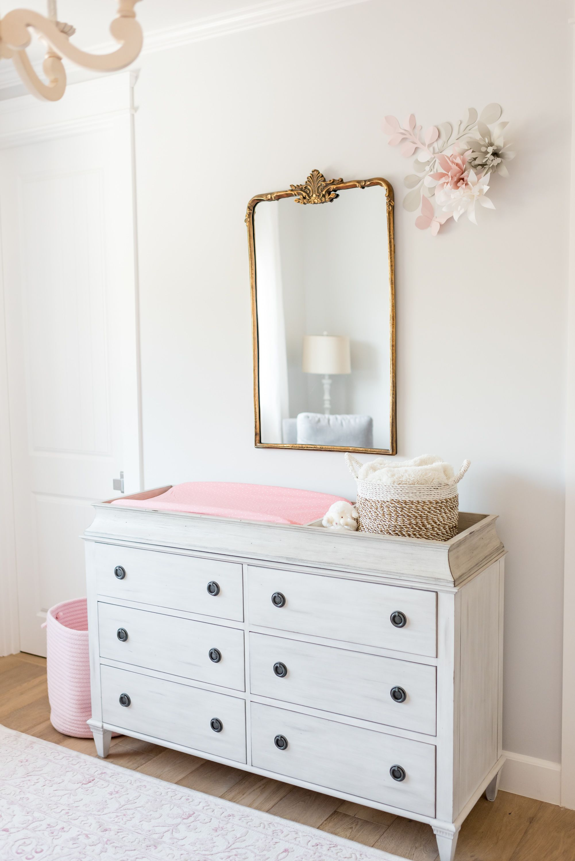 In The Nursery With Matt And Angela Lanter White Changing Table
