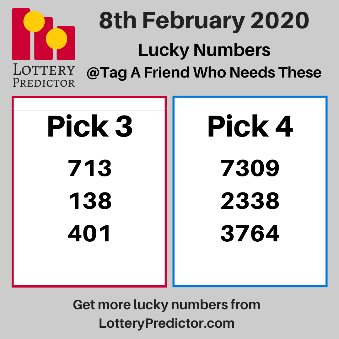 Lucky Lottery Numbers For Saturday 8th February