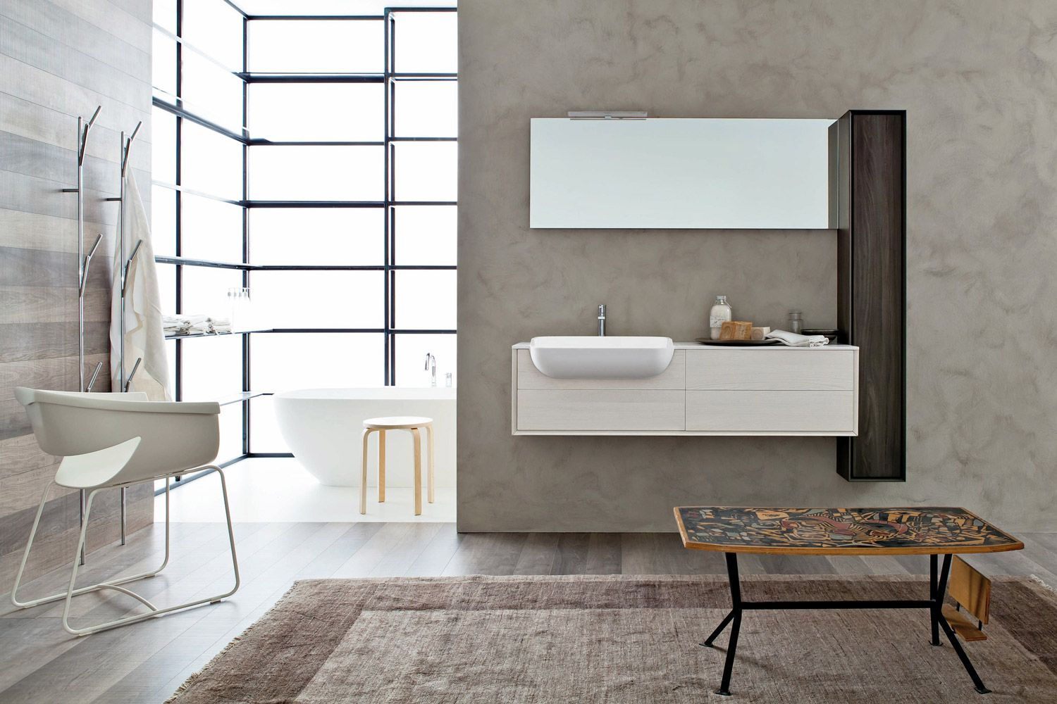 The Teknorit wash-basin can be matched with smaller depth cabinets ...
