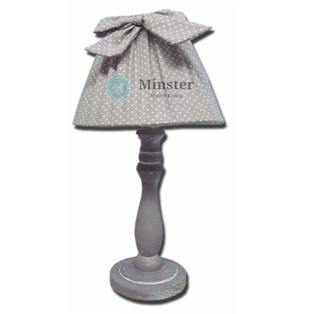 Grey Shabby Chic Ribbon Table Lamp Co Uk Lighting