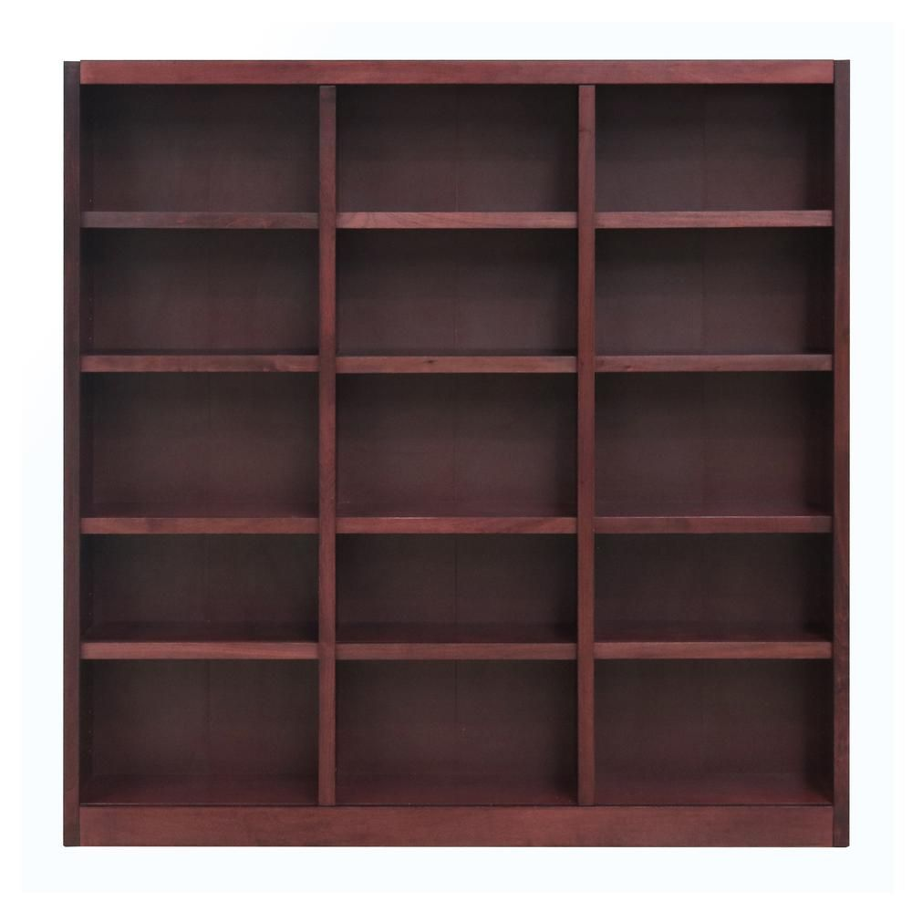 Concepts In Wood 72 In Cherry Wood 15 Shelf Standard Bookcase