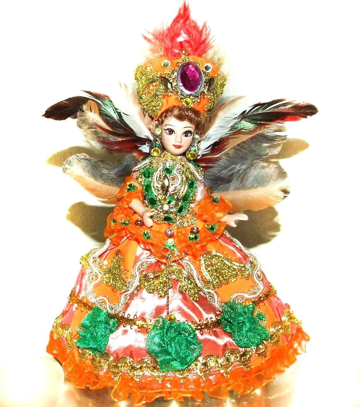 Бразильянка - полностью фарфоровая кукла 22 см в ...