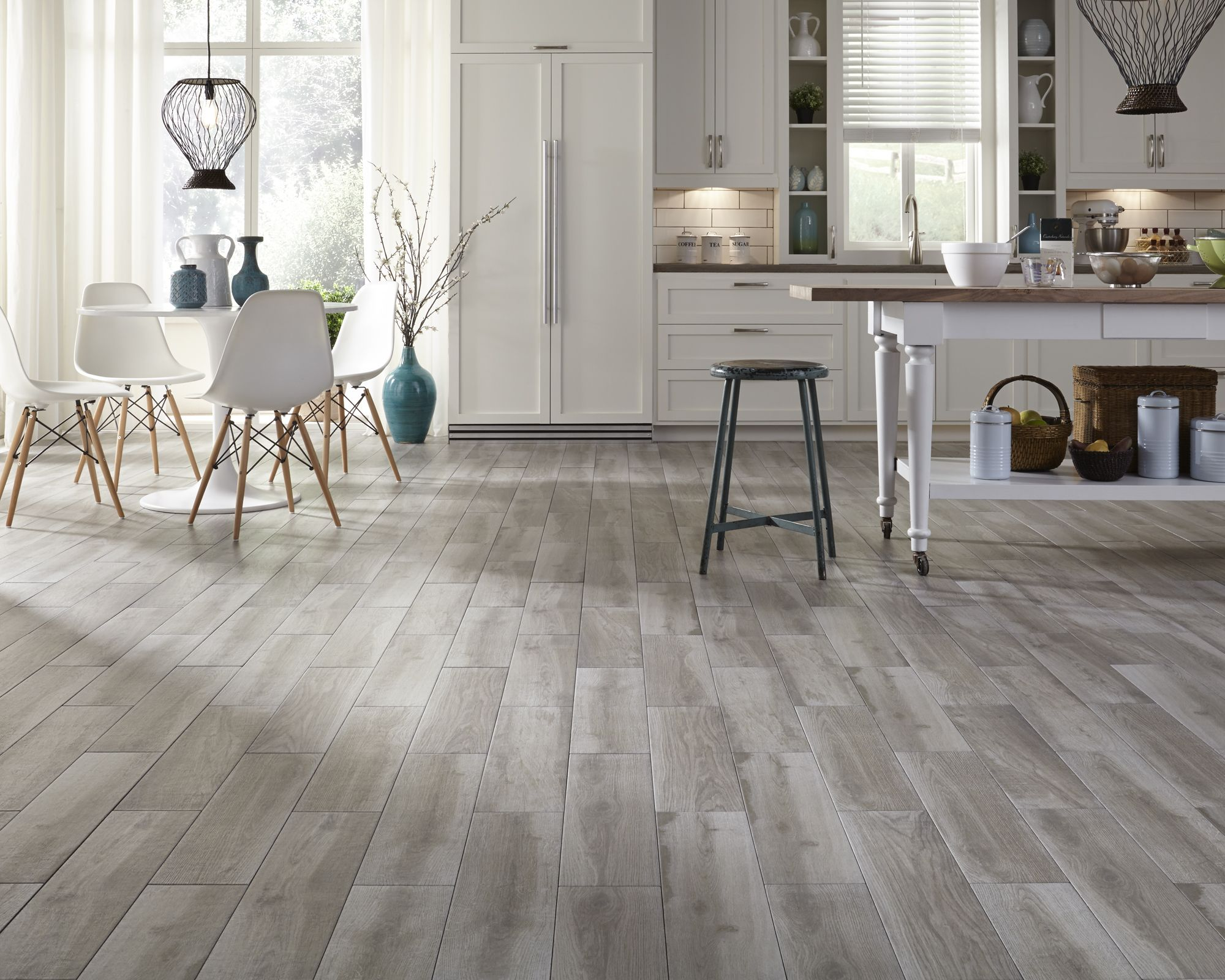 Flooring Options Kitchen Interested In Wood Look Tile Check Out Himba Gray Porcelain