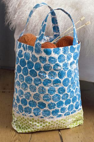 Another Tyvek Bag Stamped With Acrylic Paint Bags