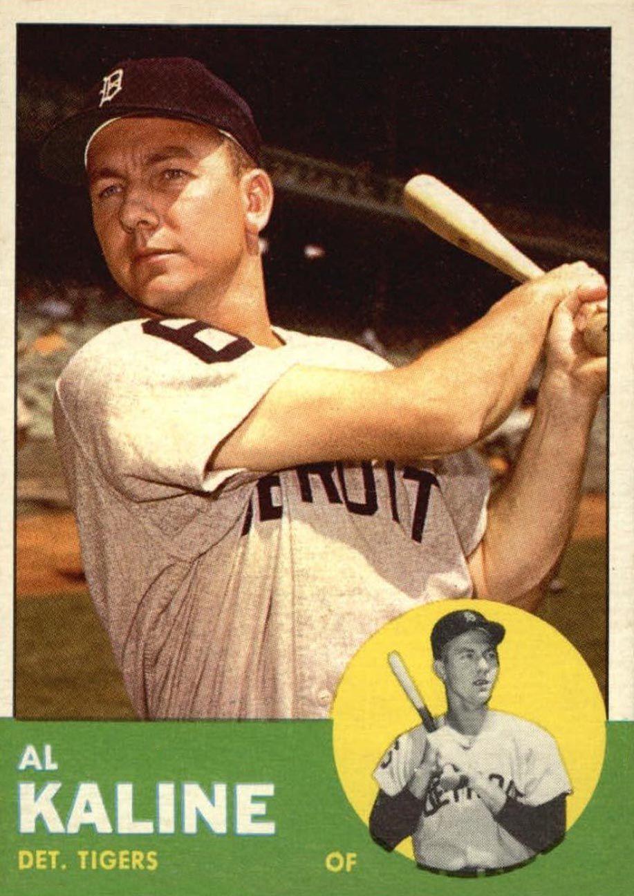 1963 topps al kaline old baseball cards baseball cards