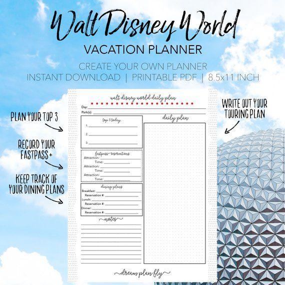 disney world daily trip planner create your own walt disney world