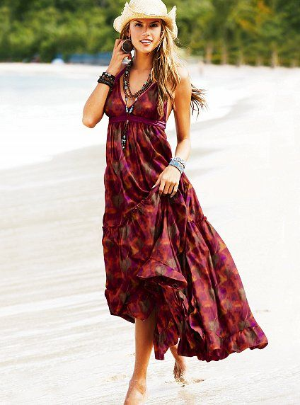 Dluga Boho Maxi Sukienka Victoria S Secret Xl 42 Summer Fashion Dresses Summer Maxi Dress Boho Fashion