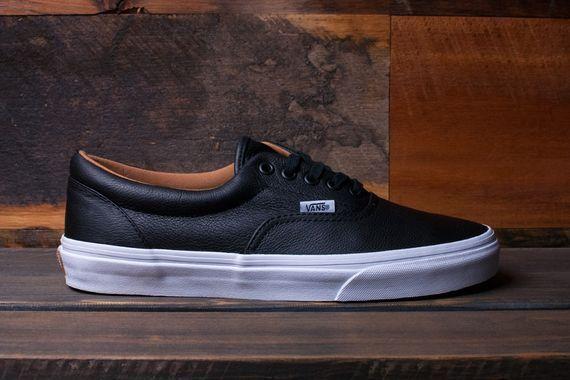 Vans Era Black Leather Men Sizes 4.5-5