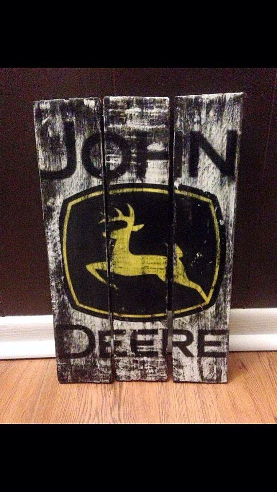 Country Man Cave Decor : John deere pallet wood sign rustic signs plaques decor man