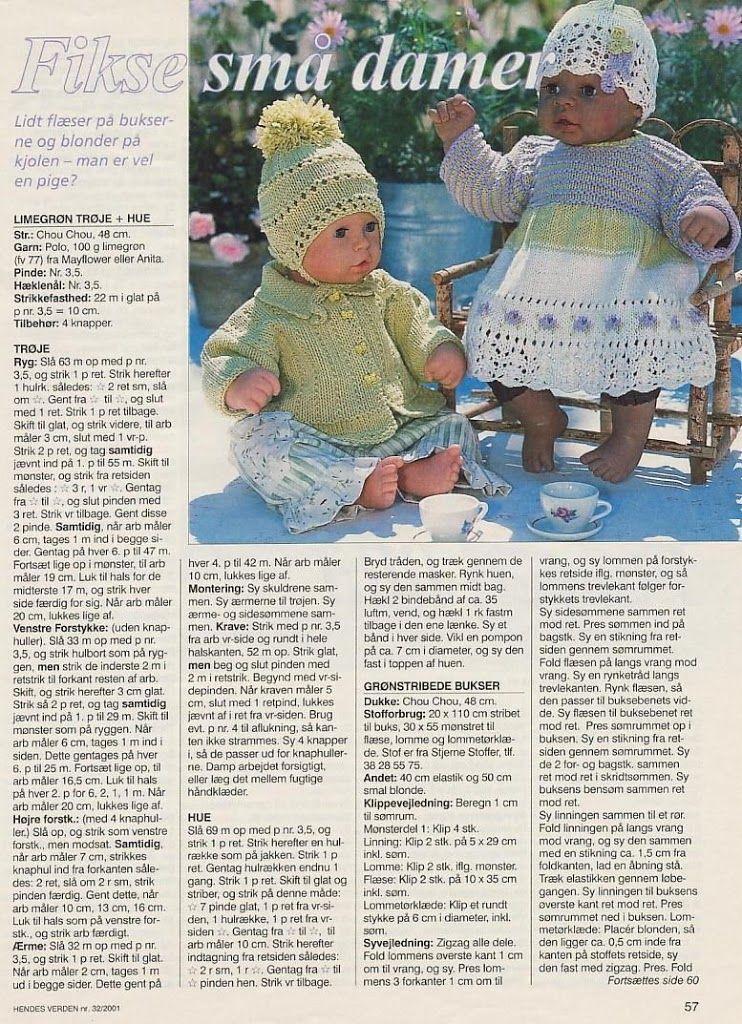 Billede: | Dolls knitting | Pinterest | Bebés prematuros, Patrones y ...