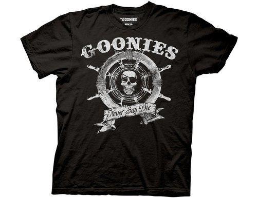 The Goonies Captain's Wheel Black T-shirt
