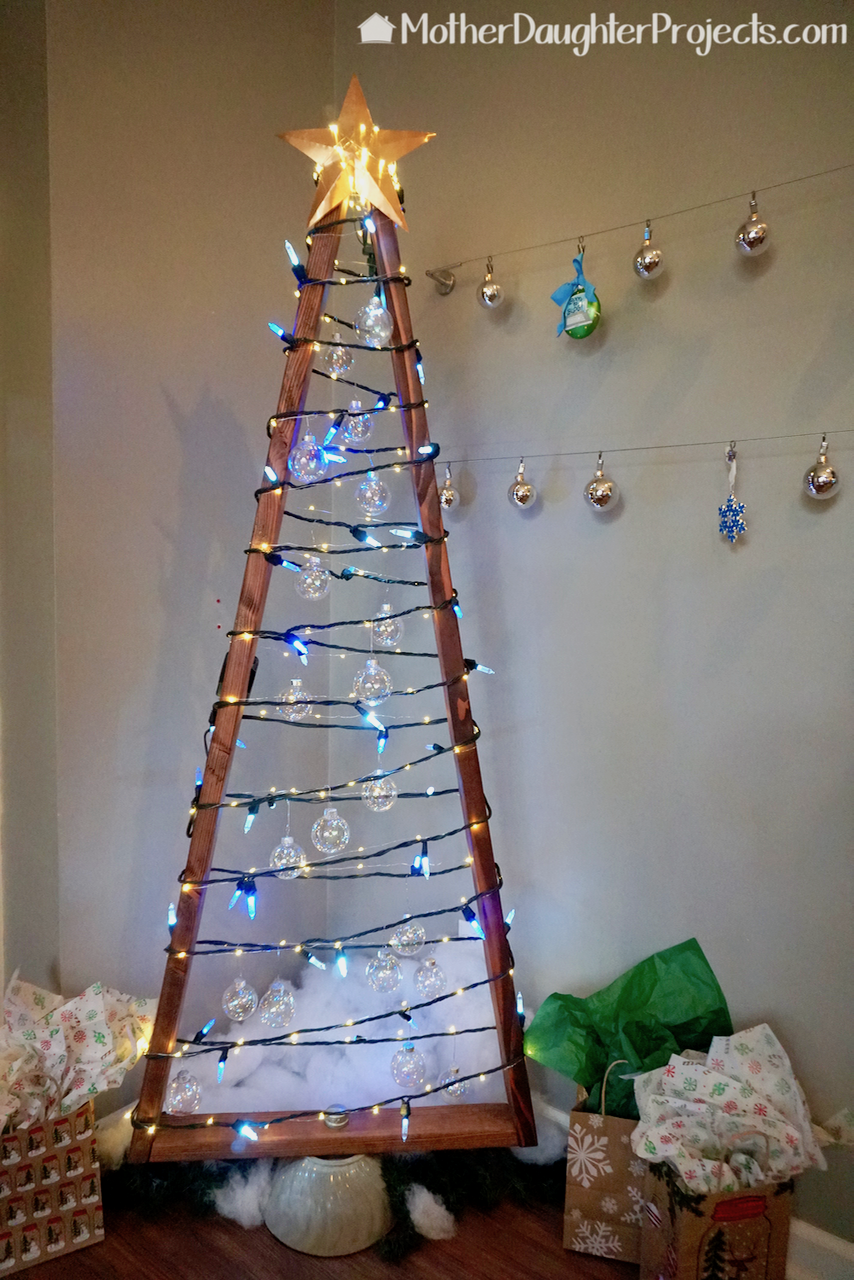 Alternative Diy Wood 2x4 Christmas Tree Christmas Tree Made Of Lights Diy Christmas Tree Christmas Crafts Diy Projects